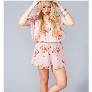 Show Me Your Mumu cow skull romper NWT